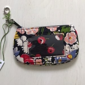 Vera Bradley clip Zip ID wallet pouch